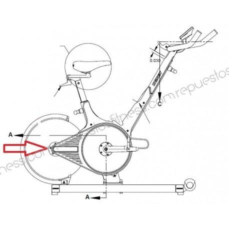Cuscinetto Ruota/Ruota di Inerzia di Keiser M3, M3I Spinning