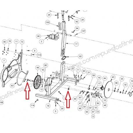 Roulement Roulement De Pédalier Keiser M5 Strider Elliptique