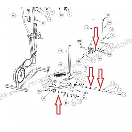Rodamiento Cojinete Brazo Keiser M5 Strider Elíptica