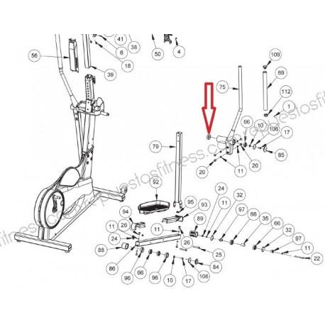 Roulement Roulement Bras Keiser M5 Strider Elliptique