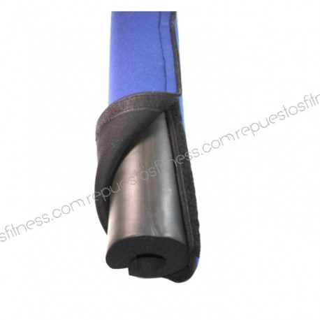 Protetor De Ombros Barra Olímpica - Neoprene De Alta Densidade - Azul 45 Cm
