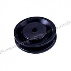 Puleggia 22 mm larghezza 76 mm di diametro esterno per asse 10 mm