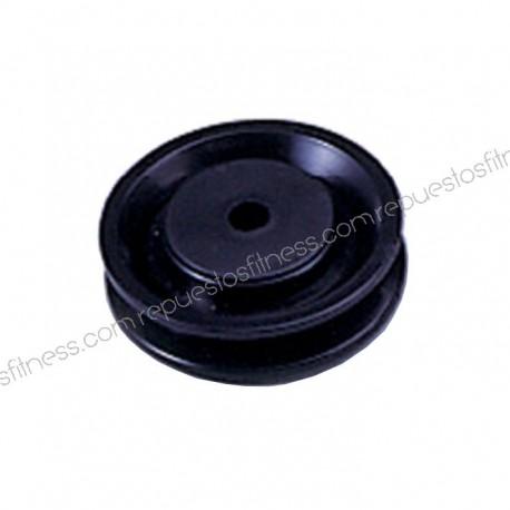 Polea 22 mm de ancho 76 mm de diámetro exterior para ejes de 10 mm