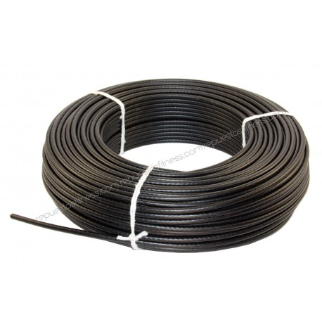 100 metros de cabo de aço plastificado Ø5 mm de espessura para máquinas de ginásio