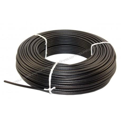 50 mètres de câble en acier plastifié de 6 mm pour appareils de musculation et de fitness.