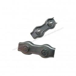 Serre-câble Plat Double de Zinc plaqué de 3 mm Câble de Frein - 4Uni