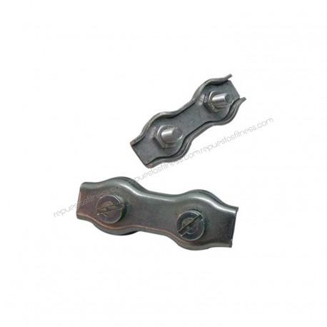 Clip per cavo Piatto Doppio zincato 3 mm Cavo Freno - 4Uni