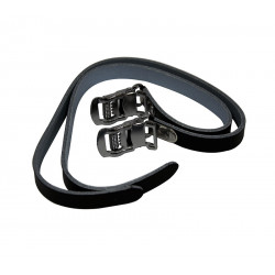 Pair straps leather pedal