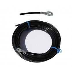 Cable de 6 mm con un final ojo marino  prensado - varios largos