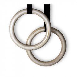 Anéis de Ginástica Olímpica, para Crossfit de Madeira com 5m de fita