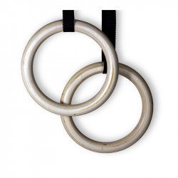 Ringe Fitness Olympic für Crossfit aus Holz mit 5m band