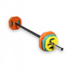 Kit Body Pump 30mm - Stange + 2 klemmen + 2 scheiben 1,5 kg, 2,5 kg und 5kg