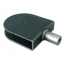 "Soporte polea rosca hembra 1/2"" de 25,4mm ancho por 120 mm de diámetro máximo para ejes de 10mm"