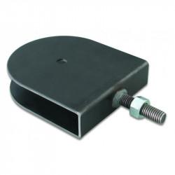 """Soporte polea rosca macho 1/2"""" de 25,4mm ancho por 120 mm de diámetro máximo para ejes de 10mm"""