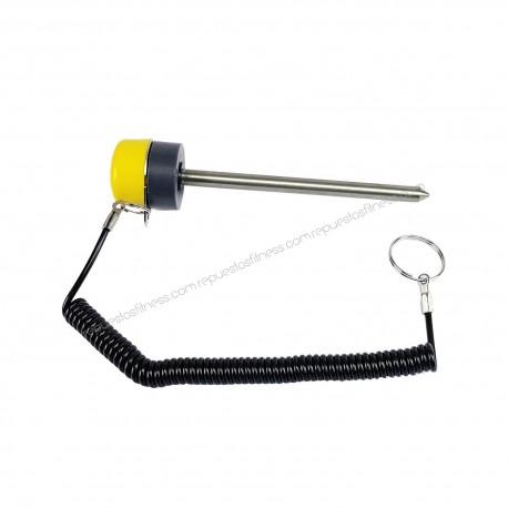 Pincho selector magnético Ø8mm por 120mm de largo con cuerda tipo Technogym