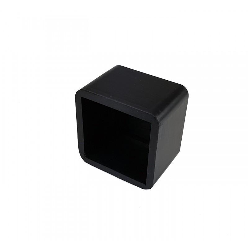 Cubierta/tapón de goma caucho para tubo cuadrado de 50,8 x 50,8 mm