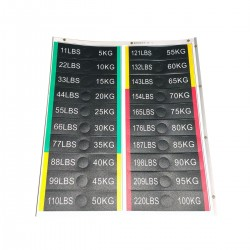 Labels with white laminated...