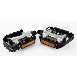"Pair Of Pedals 26"" Aluminium Thread 9/16"" Black/Silver"