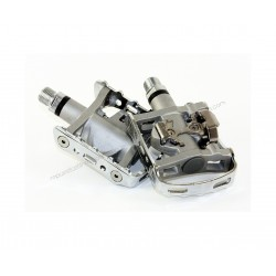 Pair Pedals Shimano M324 Mixed Silver + Creek