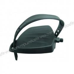 """Pédales de vélo statique vertical recumbent - fil Ø9/16"""" - Ø14,3mm - strap réglable - la paire"""