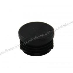 Cap round ribbed plastic flat