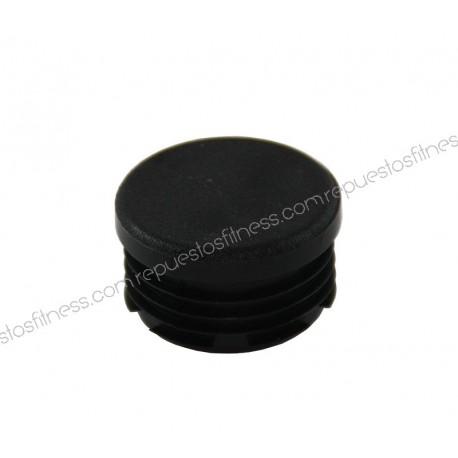 Cap round ribbed plastic flat - 30mm