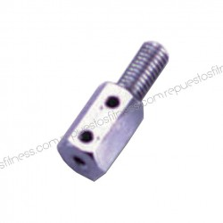"Terminal cable chrome rosca 1/2"" hexagonal"