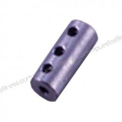 Terminal bloqueur chromé pour câble d 6 mm de machines de musculation