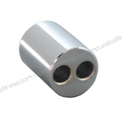 Terminal seal for cable - 2 holes 6.3 mm x 25mm long chrome