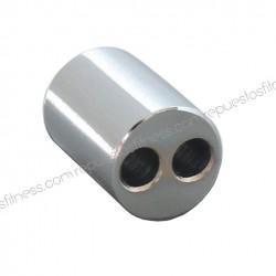 Terminale di tenuta per cavo - 2 fori 6.3 mm x 25mm lungo chrome