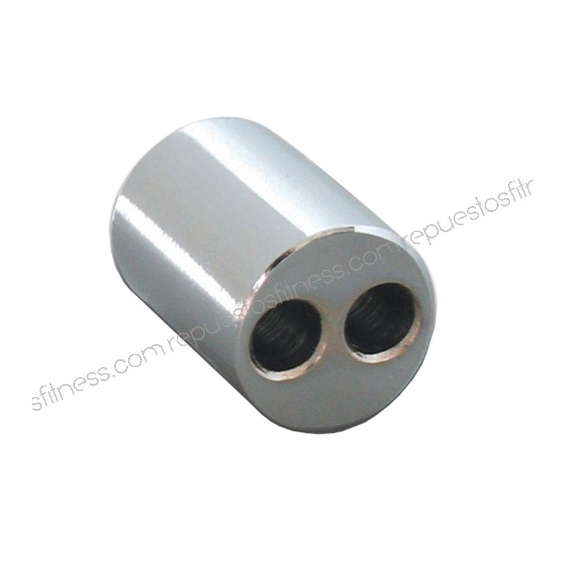 Terminal seal for cable - 2 holes 6 3 mm x 25mm long chrome