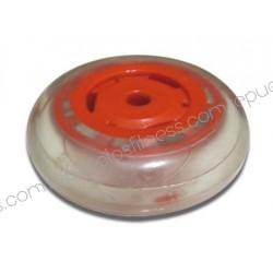 Roda de poliuretano Ø 74,6 mm - largura 24,5 mm - eixo Ø7,93mm