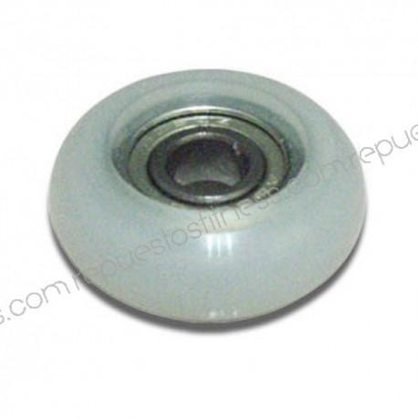 Rueda de poliuretano de Ø33 mm - ancho 12mm eje - Ø7,93 mm
