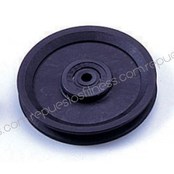 Pulley 19 mm width 128 mm of outer diameter to axis of 9.5 mm