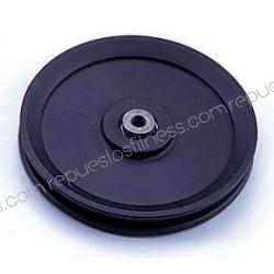 Polea 25,4 mm de ancho 151 mm de diámetro exterior para ejes de 10 mm