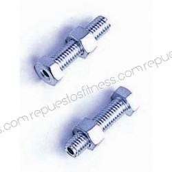 "Screw with nut thread 1/2"" - hole Ø7mm - Long 76.2 mm"