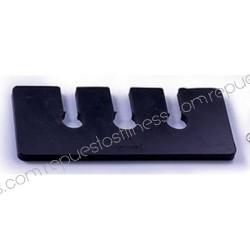 Distanziale acustico in gomma Spessore 6,35 mm - lunghezza da 127 mm - larghezza 25,4 mm