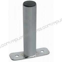 Soporte cromado de pared gris para discos Ø4,76 cm por 20,3 cm de largo