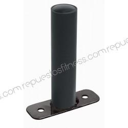 Suporte cromado de parede preto para discos Ø4,76 cm por 20,3 cm de comprimento