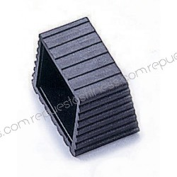 Couvercle/bouchon en PVC à un angle de tube carré 50,8 x 5,8 mm