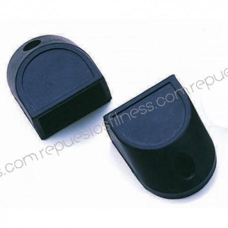 Cubierta/pie de goma caucho para tubo cuadrado de 76,2 x 50,8 mm