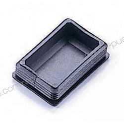 Tapon de plástico para tubo multicalibre rectangular de 76,2 x 50,8 mm