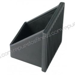 Cubierta pie en ángulo de PVC blando para tubo cuadrado de 40,8 x 40,8 mm