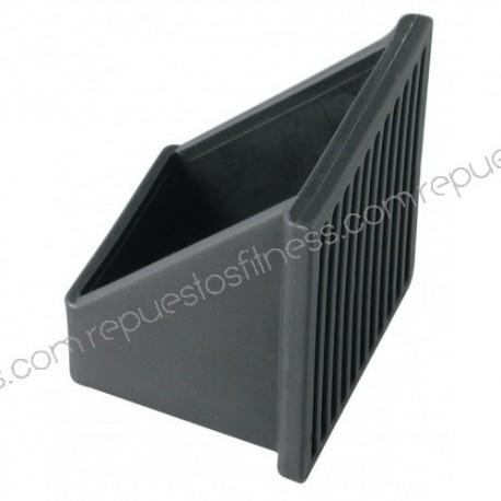 Abdeckung fuß in einem winkel von weich-PVC für rohr quadrat von 40,8 x 40,8 mm