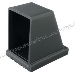 Pie protector rectangular de 76,2 x 50,8 mm de PVC en ángulo