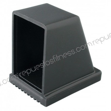 Couvrir les pieds en plastique d'angle rectangulaire pour tube 76.2 x 40.8 mm