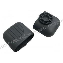 """Plug Pied tube ovale de diamètre 50,8 mm (2"""") x 101,6 (4"""")"""