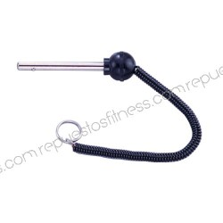 Selector/pin weights black Ø8 mm Long by 10.8 cm with rope