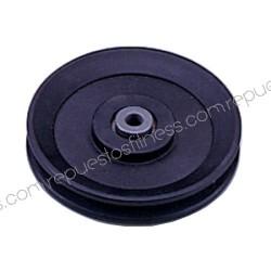 Puleggia 25.4 mm, larghezza di 120 mm di diametro esterno per asse 10 mm
