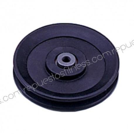 Polea de 25,4 mm de ancho de 120 mm de diámetro exterior para ejes de 10 mm
